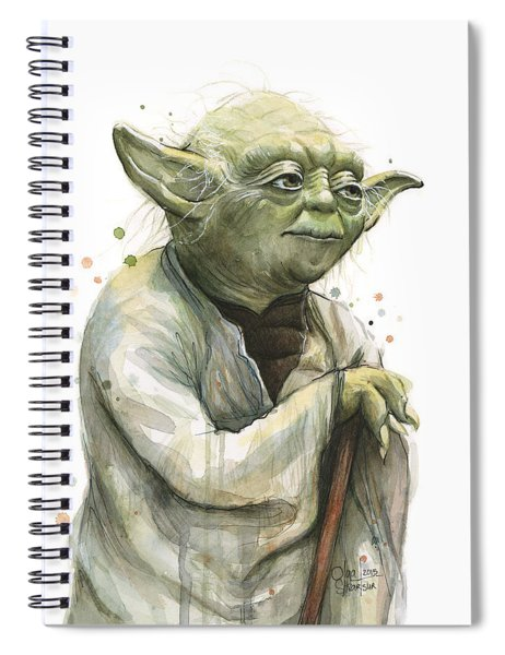 Yoda Watercolor Spiral Notebook by Olga Shvartsur