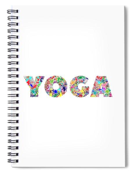 Yoga Word Art Spiral Notebook