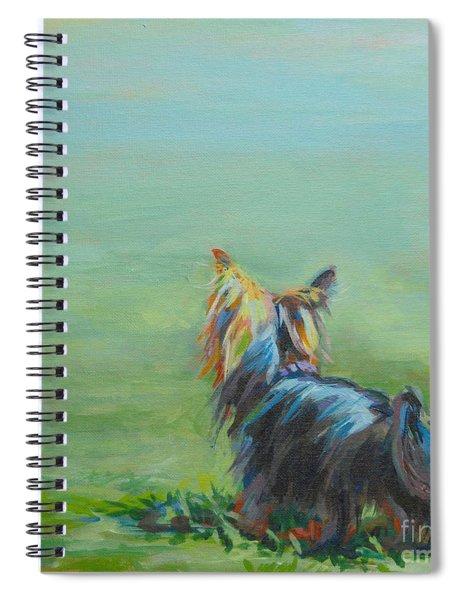 Yorkie In The Grass Spiral Notebook