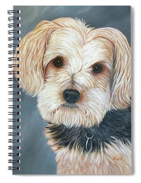 Yorkie Portrait Spiral Notebook by Karen Zuk Rosenblatt