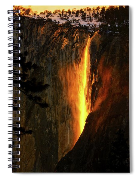 Yosemite Firefall Spiral Notebook