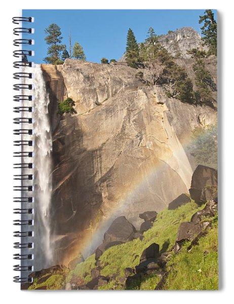 Yosemite Mist Trail Rainbow Spiral Notebook