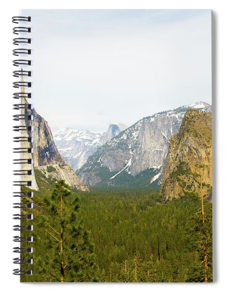 Yosemite Valley Half Dome El Capitan And Bridalveil Fall 7d6067  Yosemite National Park Is A United  Spiral Notebook