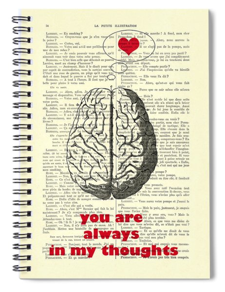 You Are Always In My Thoughts Spiral Notebook