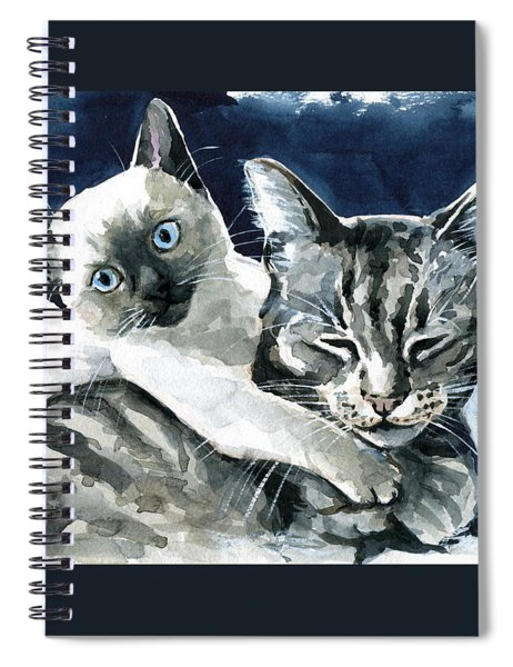 You Are Mine - Cat Painting Spiral Notebook
