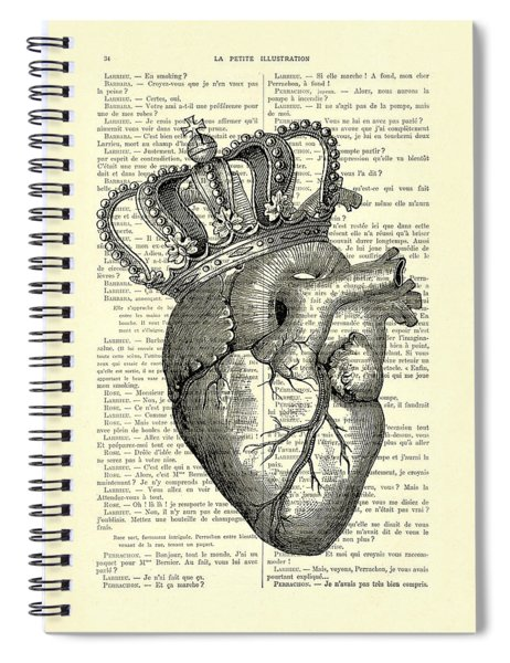 You Are The Queen Of My Heart Spiral Notebook