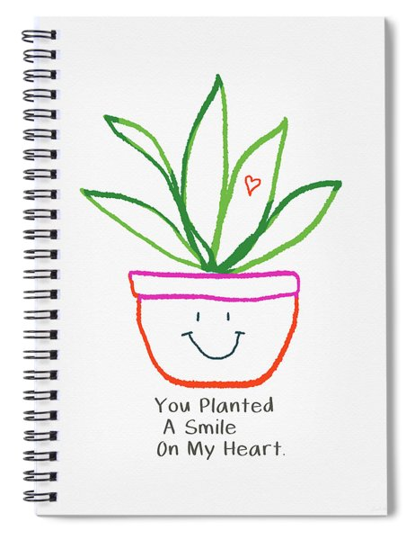 You Planted A Smile- Art By Linda Woods Spiral Notebook
