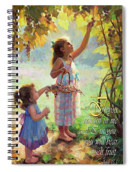 You Will Bear Much Fruit Spiral Notebook