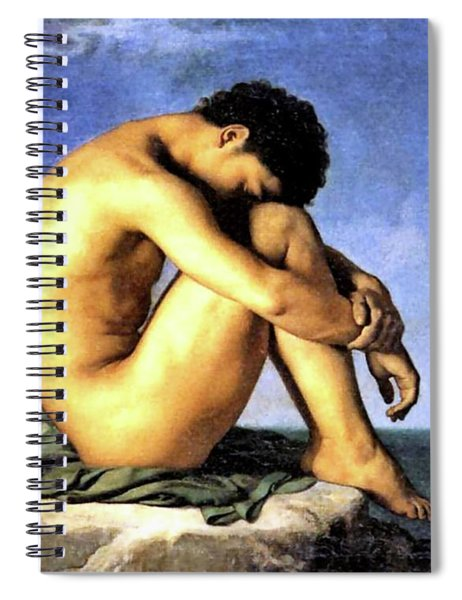 Young Man By The Sea Spiral Notebook