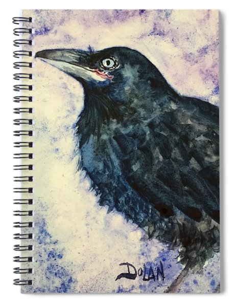 Young Raven Spiral Notebook