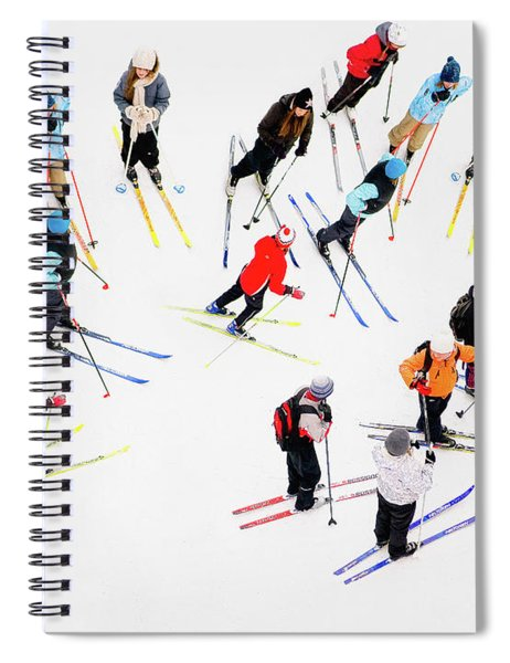 Young Skiers Spiral Notebook