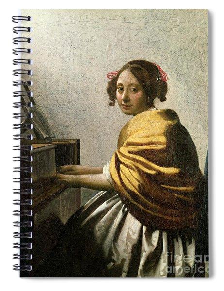 Young Woman At A Virginal Spiral Notebook
