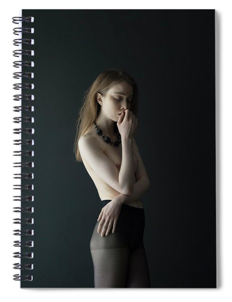Young Woman In Pantyhose Spiral Notebook