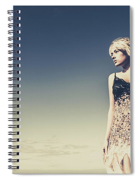 Young Woman Standing On The Beach Spiral Notebook