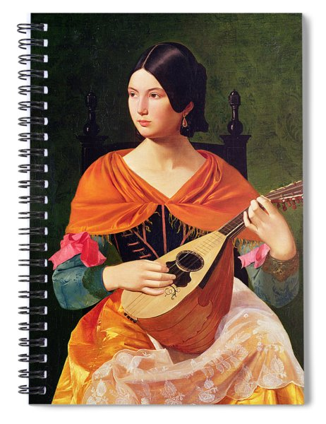 Young Woman With A Mandolin Spiral Notebook
