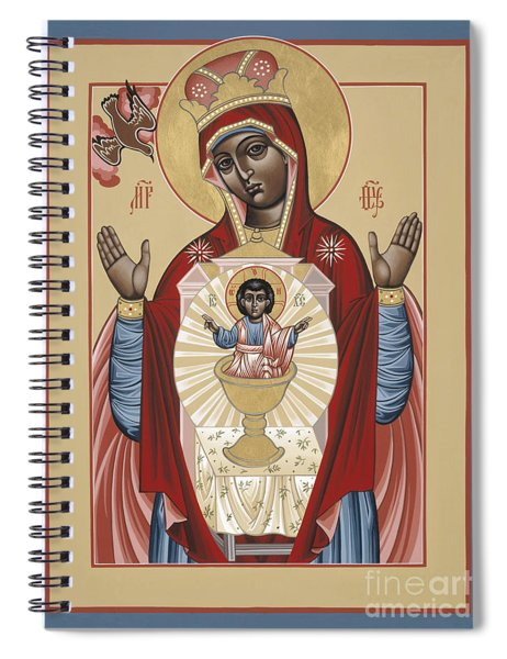 The Black Madonna Your Lap Has Become The Holy Table 060 Spiral Notebook