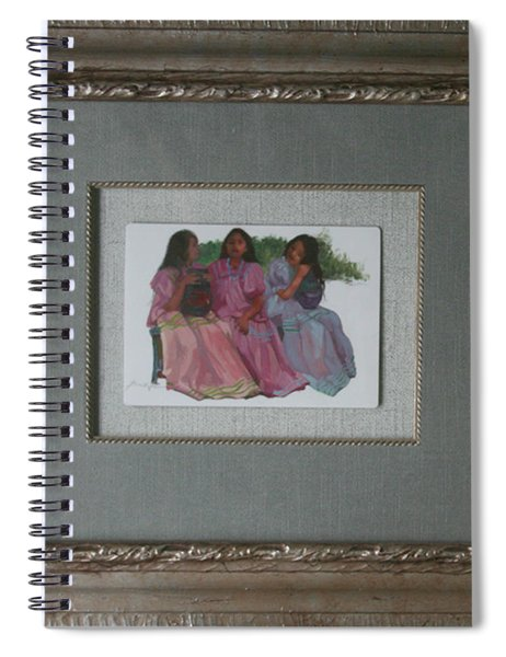 Youthful  Beauties Oil On Porcelain Spiral Notebook