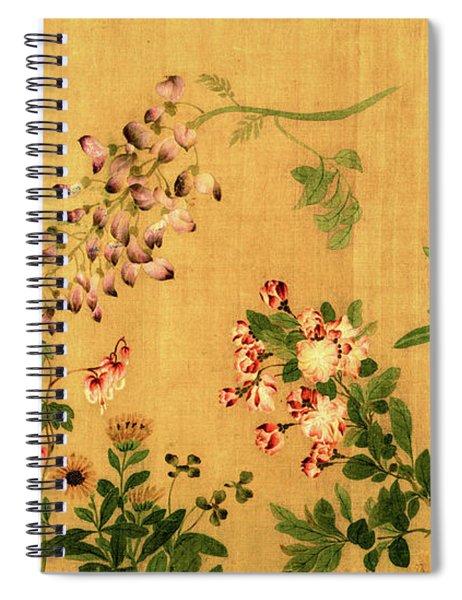 Yuan's Hundred Flowers Spiral Notebook