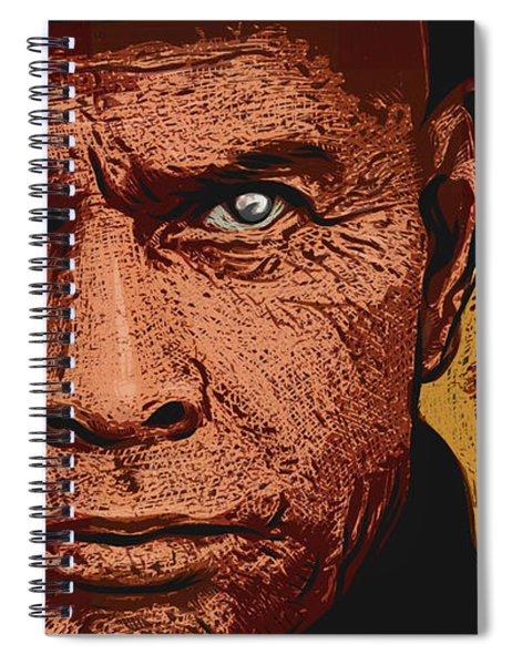 Yul Brynner Spiral Notebook by Antonio Romero