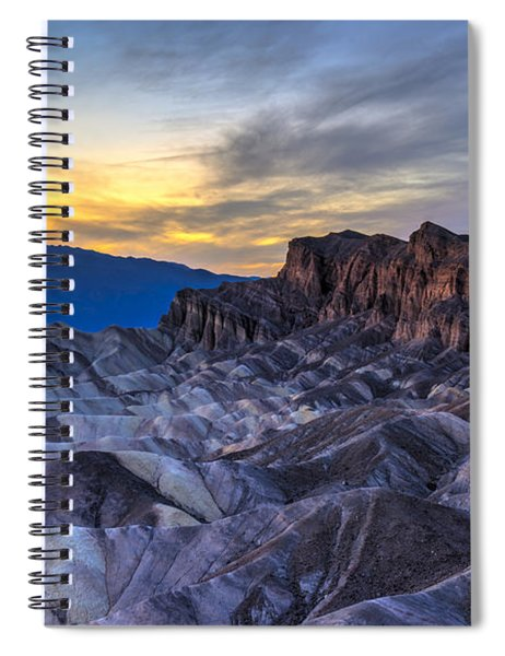 Zabriskie Point Sunset Spiral Notebook