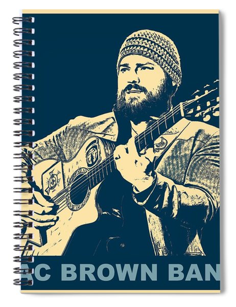 Zac Brown Band Poster Spiral Notebook