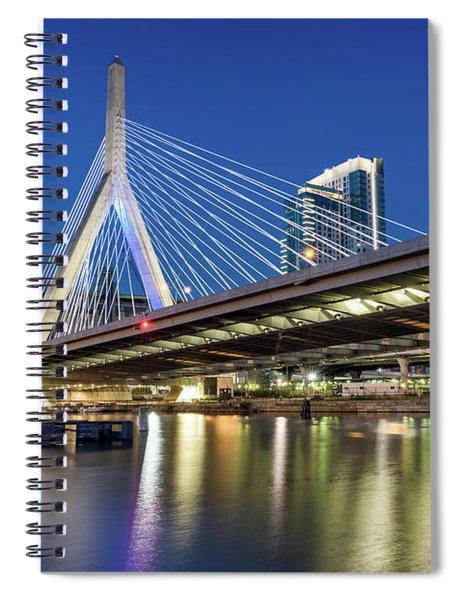 Zakim Bridge And Charles River Spiral Notebook