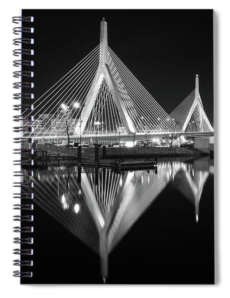Zakim Bridge From Lovejoy Wharf Spiral Notebook