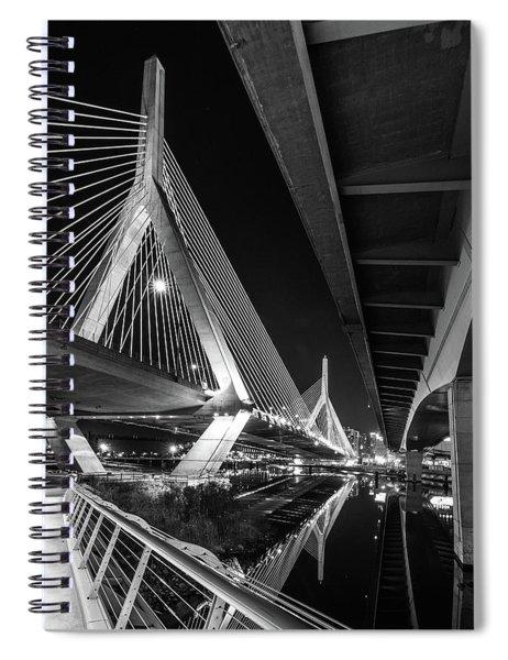 Zakim Bridge From Under The Leverett Connector Bridge Spiral Notebook