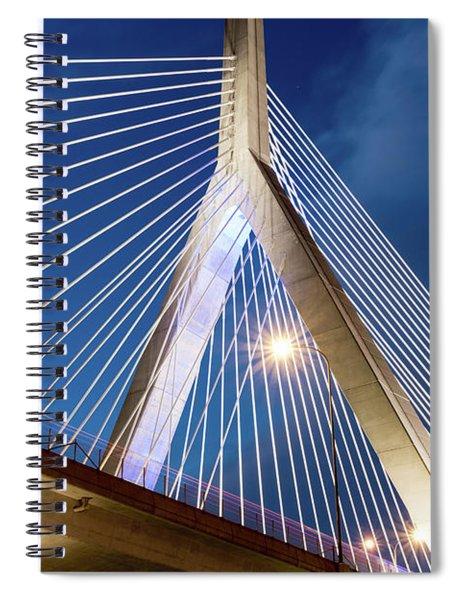Zakim Bridge Upclose Spiral Notebook