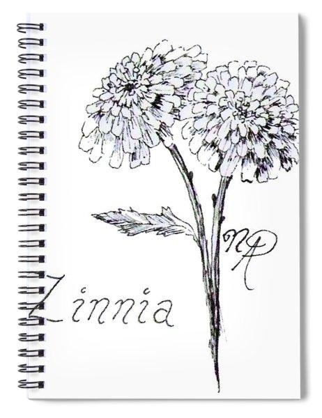 Zannie Zinnia Spiral Notebook