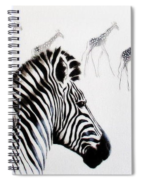 Zebra And Giraffe Spiral Notebook
