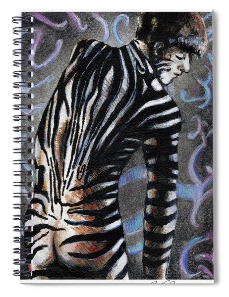 Zebra Boy At Dawn Spiral Notebook