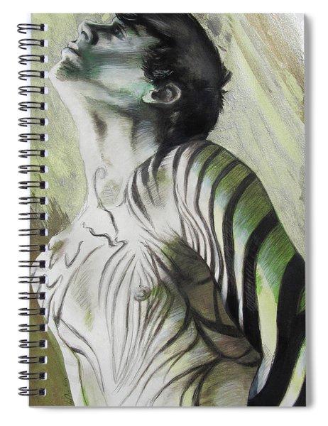 Zebra Boy In Spring Spiral Notebook