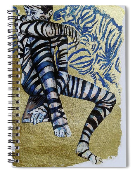 Zebra Boy The Lost Gold Drawing  Spiral Notebook