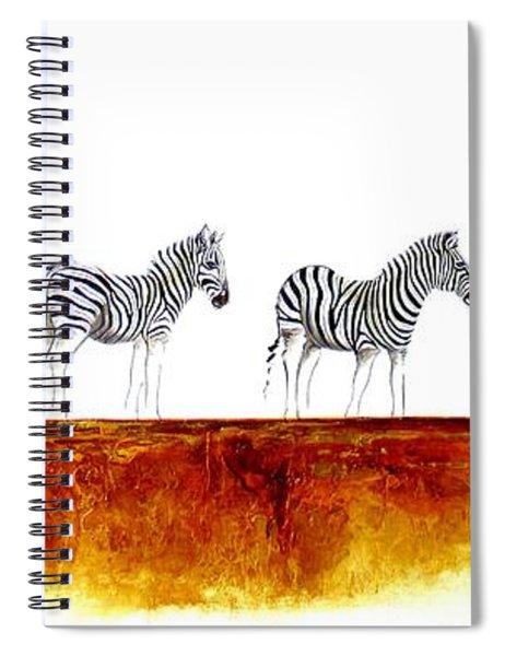 Zebra Landscape - Original Artwork Spiral Notebook