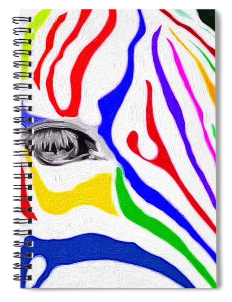Zebra Nothing Is Black And White Spiral Notebook