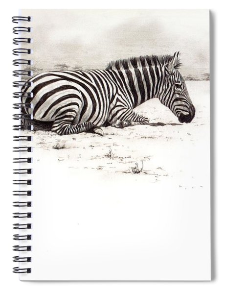 Spiral Notebook featuring the painting Zebra Sketch by Alan M Hunt