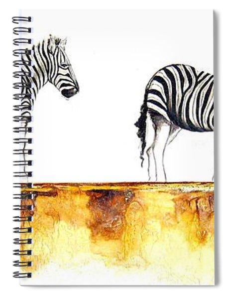 Zebra Trio - Original Artwork Spiral Notebook