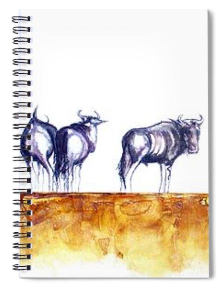 Zebras And Wildebeest 2 Spiral Notebook