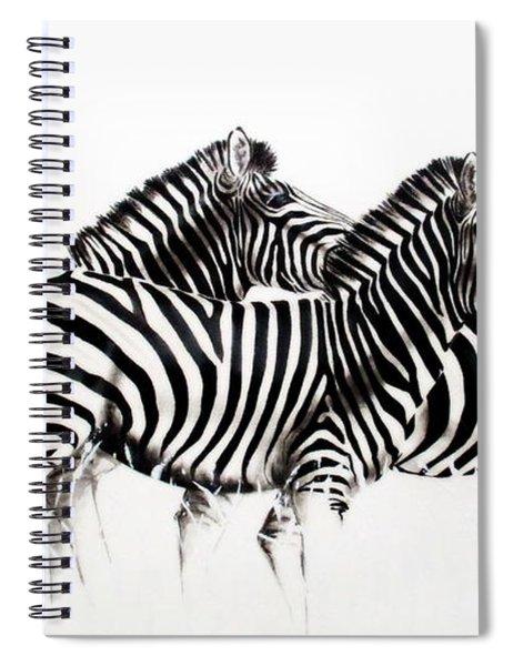 Zebras - Black And White Spiral Notebook