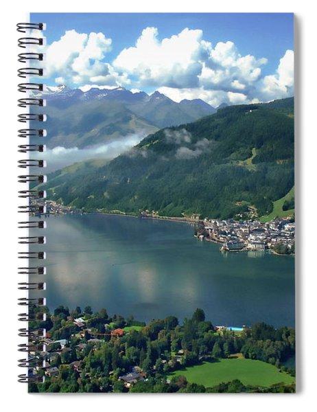 Zell Am See Panorama Spiral Notebook