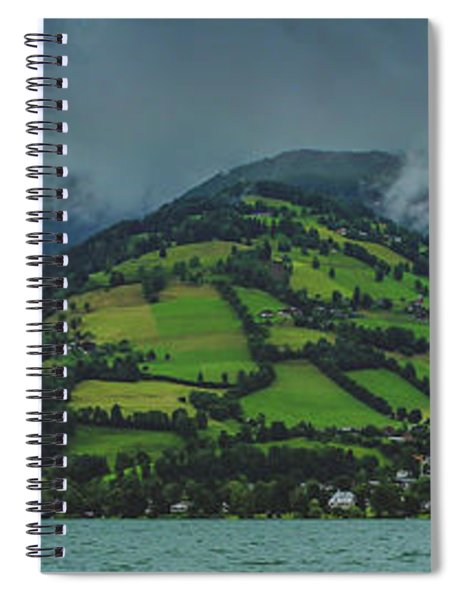 Zell Am See Panorama Spiral Notebook