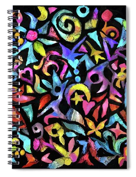 Zen Melody On Black Spiral Notebook