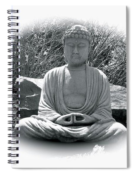 Spiral Notebook featuring the painting Zen by Michael Lucarelli