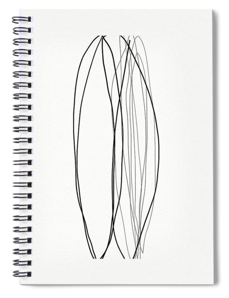 Zen Modern Abstract 4- Art By Linda Woods Spiral Notebook by Linda Woods