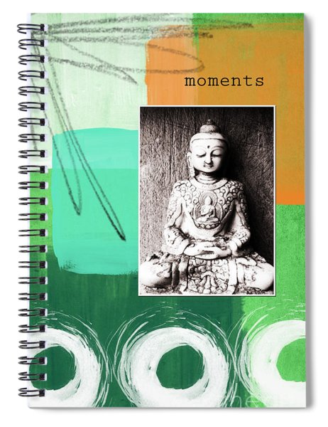 Zen Moments Spiral Notebook by Linda Woods