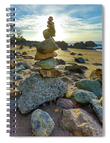Zen Rock Balance Spiral Notebook