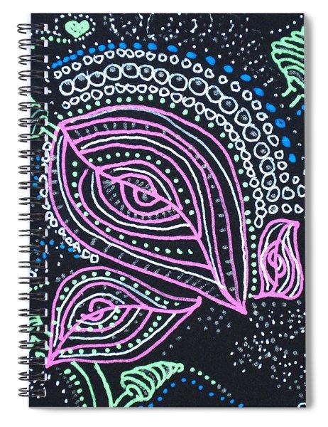 Zentangle Flower Spiral Notebook