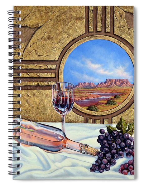 Zia Wine Spiral Notebook
