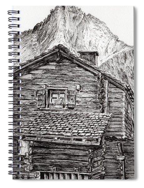 Zinal Switzerland Spiral Notebook
